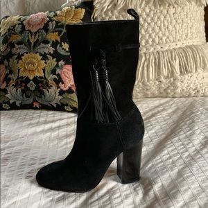 Vince Camuto 'Fermel' Tassel Black Suede Boots